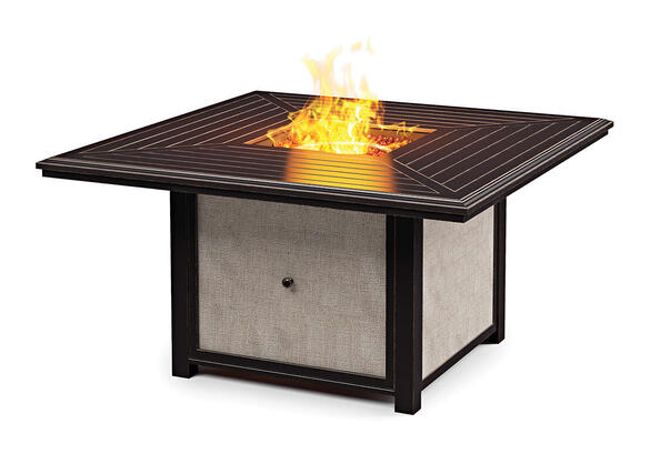 Hallowind Fire Pit Table Brown