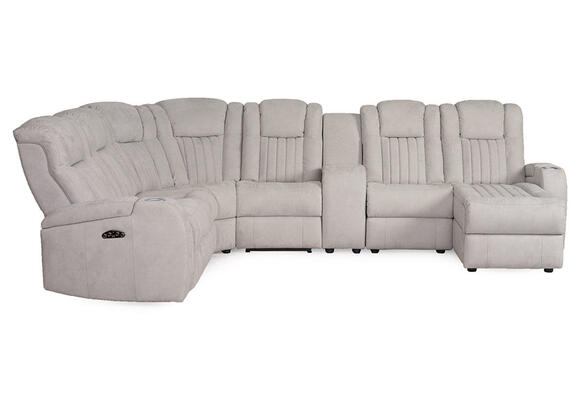 Tesla Fabric 7 Pc. Power Sectional