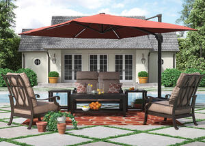 Grand River 3 Pc. Patio Set w/Loveseat