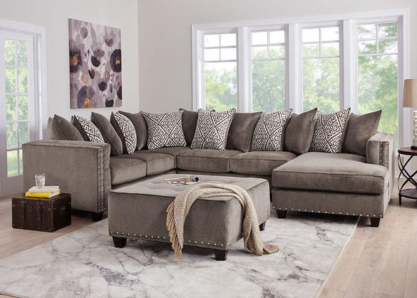 Bristol Silver 3 Pc. Sectional