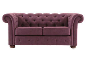 Barrington Purple Linen Loveseat