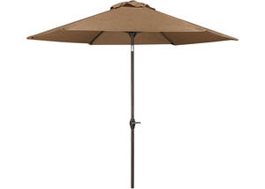 Medium Auto Tilt Umbrella Brown