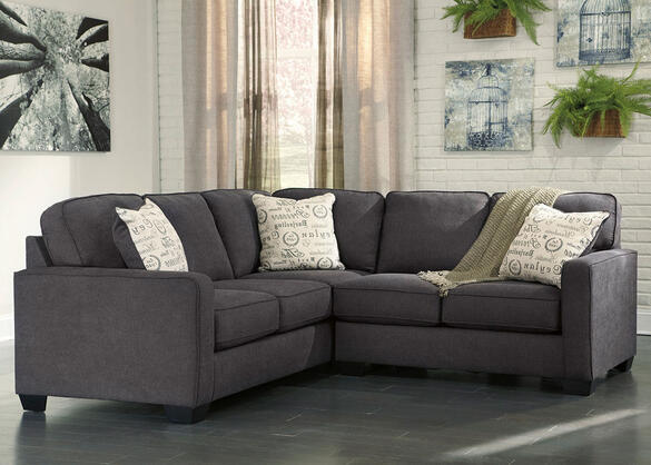 Arthur Charcoal 2 Pc. Sectional (Reverse)