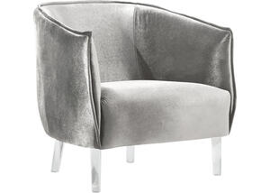 Sammi Gray Velvet Accent Chair