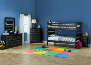 Catalina Black 4 Pc. Twin Bunk Bedroom
