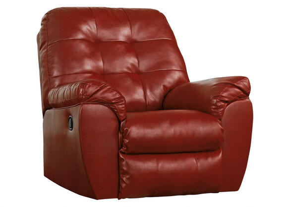 MAXIM 3 PC LAF SECT W/RECLINER RED
