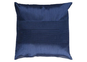 Solid Pleated Throw Pillow Navy