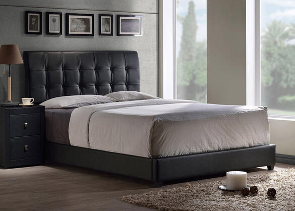 Lusso Black Twin Bed Set