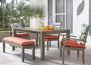 Newport Gray 6 Pc. Dinette w/Cushions