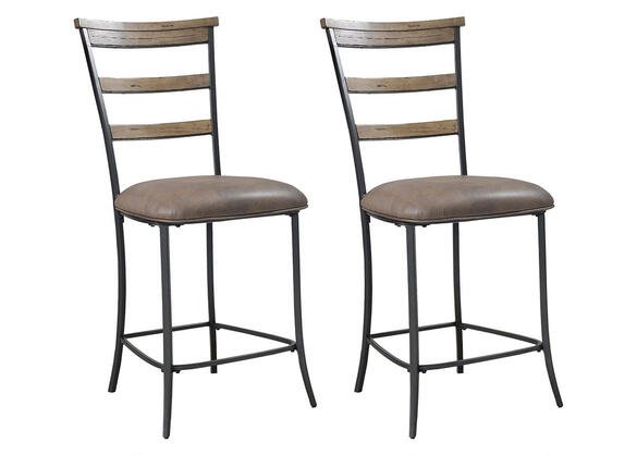 Charleston 2 Pc Ladder Back Stool Set