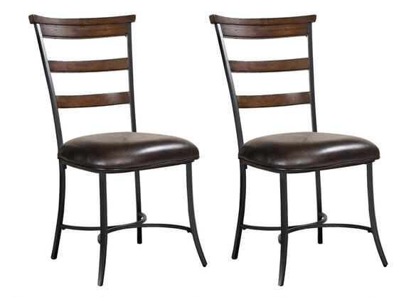 Cameron 2 Pc Ladder Back Dining Chair Set