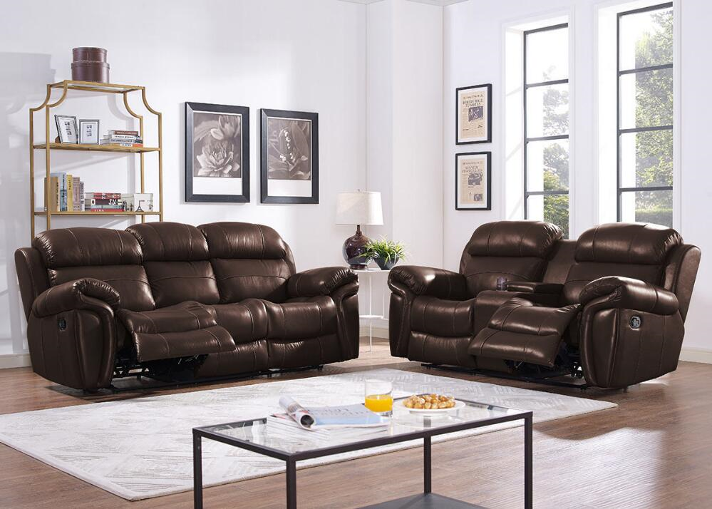 Salerno Brown 3 Pc. Power Living Room