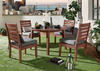 Newport Brown 5 Pc. Round Dinette w/Cushions