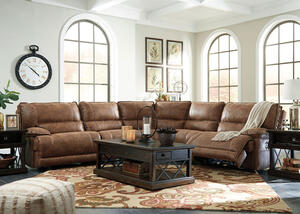 Spruce 5 Pc. Power Sectional w/Two Armless Chairs