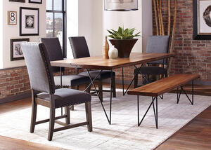 Sutherson 6 Pc. Dining Room w/Gray Tucson Chairs by Scott Living