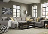 Claudine 4 Pc. Sectional w/Armless Loveseat & Cuddler Chaise (Reverse)