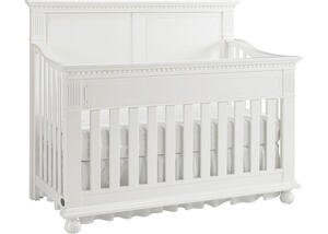Naples Snow White Full Panel Convertible Crib by Dolce Babi