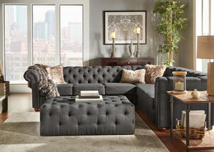 Barrington Charcoal Linen 6-Seat Sectional