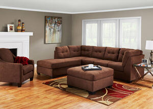 MARLO 3 PC RAF SLPR SECTIONAL WALNUT