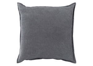 Cotton Velvet Throw Pillow Dark Gray