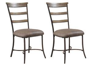 Charleston 2 Pc Ladder Back Dining Chair Set