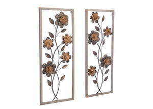 Daisy 2 Pc. Wall Decor Gray