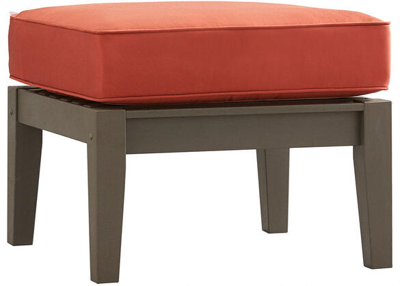 Newport Gray Ottoman w/Cushion