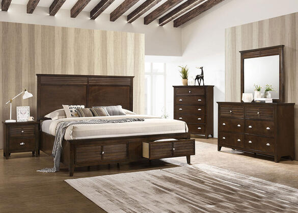 Malibu Brown 7 Pc. King Bedroom