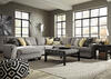 Claudine 5 Pc. Sectional w/Chaise (Reverse)