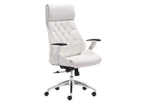 Boutique White Office Chair