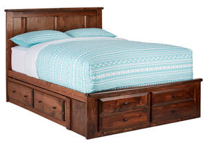 CATALINA FULL PLAT BED W/STORAGE CHESTNUT