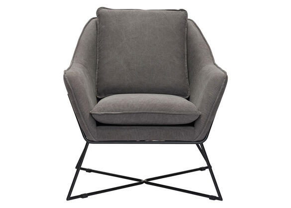 Lincoln Lounge Chair Gray Gray