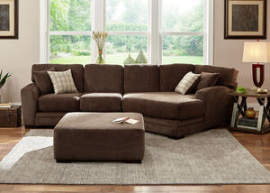 Easton Chocolate 2 Pc. Sectional w/Cuddler Chaise