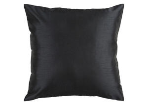 Solid Luxe Throw Pillow Black