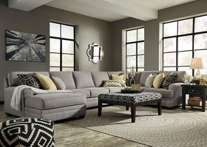 Claudine 4 Pc. Sectional w/Armless Sofa & Chaise (Reverse)