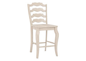 "White Ladder 24"" Cntr Ht Chair White"