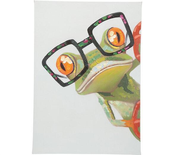 Peeking Frog Wall Decor Multi - The RoomPlace