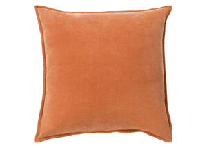 Cotton Velvet Throw Pillow Orange