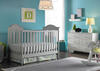 Charlotte Misty Gray Convertible Crib by Fisher Price