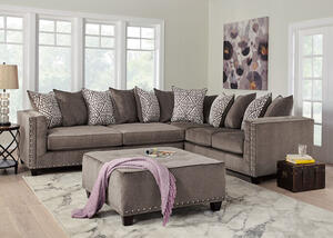Bristol Silver 2 Pc. Sectional