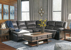 York Slate 5 Pc. Sectional (Reverse)