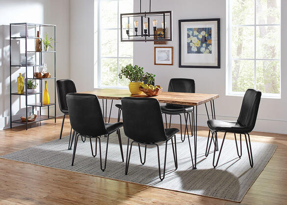 Sherman Charcoal 7 Pc. Dining Room
