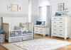 Lucca Sea Shell White Flat Top Convertible Crib by Dolce Babi