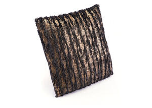 Metallic Waves Pillow Black