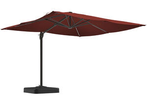 Large Burnt Orange Cantilever Umbrella
