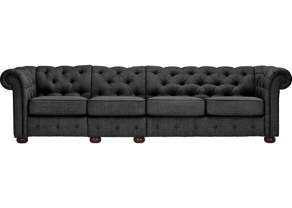 Barrington Charcoal Linen Extra Wide Sofa