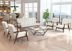 Rocky White 5 Pc. Living Room
