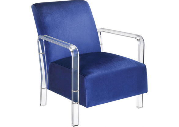 Meade Blue Accent Chair