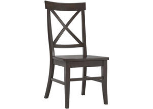 Black Finish X Back Side Chair Black