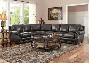 Genoa Charcoal 4 Pc. Sectional w/armless Chair